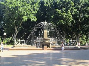 Hyde Park starting point information for Sydney Amazing Race