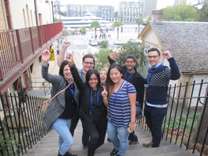 Amazing Race Sydney City Rocks team building participants